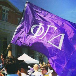 6) Phi Gamma Delta showing our pride